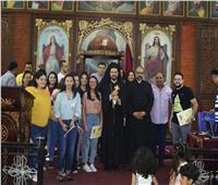 الأنبا باخوم في زيارة رعوية لكاتدرائية السيدة العذراء بقويسنا