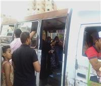 انتخابات النواب 2020| سيارت نقل الناخبين أمام لجان بولاق الدكرور