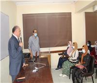 رئيس جامعة الأقصر يناقش نظام الدراسة بالعام الجامعي الجديد