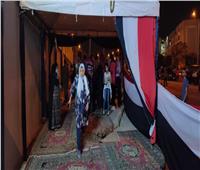 صور  إقبال كثيف بلجان اقتراع النواب في مركز شباب الشيخ زايد