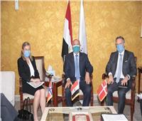 «الوزير» يبحث معسفيري الدنمارك والنرويج التعاون في النقل البحري