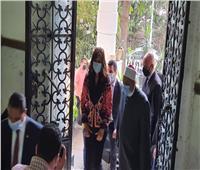 صور| لحظة وصول وزيرة الهجرة إلى الأعلى للشئون الإسلامية للقاء وزير الأوقاف