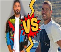ألبوم تامر حسني VS سينجلات عمرو دياب.. من يحسم الصراع؟