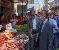 حملة لمحافظ الإسكندرية بشارع القاهرة لإزالة تعديات الباعة الجائلين