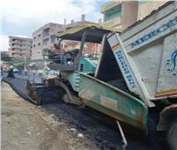 محافظ المنوفية يتابع رصف الطرق الرئيسية ببركة السبع