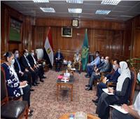 «الهجان» يلتقي أعضاء مجلس الشيوخ بالقليوبية
