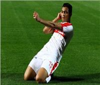 مصطفى محمد يحرز هدف الزمالك الأول في شباك الدراويش
