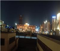 صور | الإنارة الموحدة تزين ميدان التحرير استعداد لافتتاحه