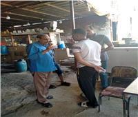 صور| ضبط مخالفات سرقة مياه بمقاهي في نجع حمادي