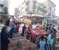 حملة مكبرة لرفع إشغالات الشوارع في أشمون