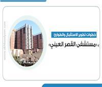 إنفوجراف .. خطوات تطوير الاستقبال والطوارئ بـ«مستشفى القصر العيني»
