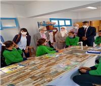 نائب محافظ القاهرة وسفير الياباني يفتتحان مدرسة شهداء بورسعيد بعد تطويرها