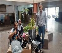 «القباج» توجه بتسليم الشاب «عمرو» كرسي متحرك وتوفير فرصة عمل له