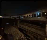 «السكة الحديد» تكشف سبب خروج قطار طنطا عن القضبان