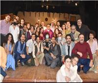 صور | وزيرة الثقافة تشهد «أفراح القبة» بالمسرح العائم