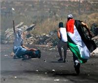 إصابات فلسطينيين خلال قمع الاحتلال الاسرائيلي مسيرة بيت دجن