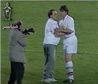فيديو| عادل إمام يطرد جمال الغندور في مباراة أشرف قاسم