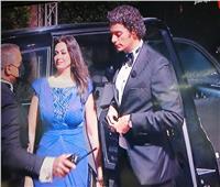 هبة مجدي وزوجها يصلان الجونة للمرور علي ريد كاربت