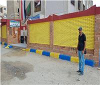 صور| أعمال نظافة وتجميل وصيانة إنارة بحي ثالث الإسماعيلية