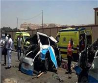 مصرع وإصابة 3 أشخاص في تصادم بين سيارتين ودراجة نارية بقليوب