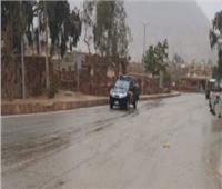 غلق طريق «الشيخ فضل - رأس غارب» بسبب الأمطار