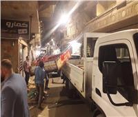 حملات إزالة مكبرة لإزالة إشغالات الطرق بأحياء الإسكندرية