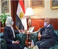 وزيرة الصحة تستقبل الجراح العالمي مجدي يعقوب