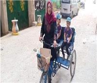 «التدخل السريع» يقدم المساعدة لسيدة توصيل الطلبات بالإسكندرية