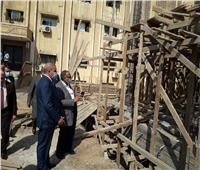 صور| رئيس جامعة الأزهر يتفقد إنشاءات المسجد الجديد