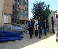 وفد «التخطيط» يتابع المشروعات المدرجة بخطة جامعة المنيا