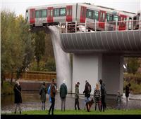 شاهد|«حوت ضخم» يحمي قطاراً من كارثة