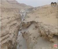 بالفيديو| منبع مياه للنيل لا يعرفه المصريون.. بوابة وادي دجلة للأمطار
