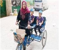 قصة طاقة نور سهى.. «سيدة الدراجة» تحت مظلة «التضامن»