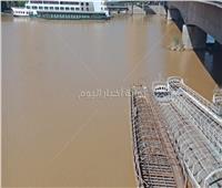 بالفيديو  عكارة مياه النيل بعد موجة الأمطار والسيول