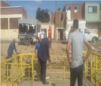 صور| رفع 120 طناً قمامة وصيانة أعمدة الإنارة بقرية نفيشة بالإسماعيلية