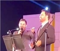 عاصي الحلاني ونجله يشعلان مهرجان الموسيقى العربية   فيديو