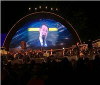 هاني شاكر يفتتح حفل مهرجان الموسيقى العربية بالغناء لمصر