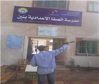 حملة مكبرة لرفع القمامة وتعقيم لجان الانتخابات بـ«نفيشة» الإسماعيلية
