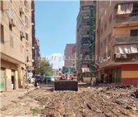 الجيزة تتابع أعمال توسعه وتطوير شارع ترعة الزمر بالعمرانية