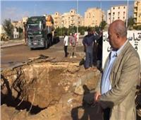 عودة المياه إلى مدينة الشيخ زايد بعد إصلاح الخط الرئيسي