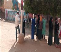 انتخابات النواب 2020| صور.. إقبال المواطنين على اللجان بالقناطر الخيرية