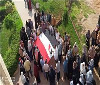 مسيرة حاشدة للعاملين بتعليم الشرقية لحث المواطنين على التصويت