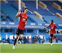 كافانى يقص شريط أهدافه مع مانشستر يونايتد