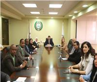 وفد البرلمان العربي يلتقي رئيس الهيئة الوطنية للانتخابات