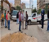 تطوير ورصف شوارع عين شمس بالقاهرة