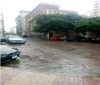 صور  بدء الموجة الثالثة .. أمطار رعدية تضرب الإسكندرية