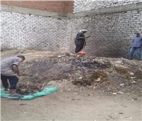 استجابة لـ«بوابة أخبار اليوم».. رفع تراكمات القمامة في أبو فليون بالمنيا