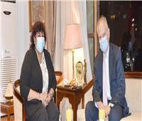 وزيرة الثقافة تستقبل سفير اليونان بالقاهرة لبحث سبل التعاون
