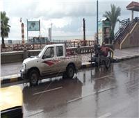 صور  أمطار غزيرة وطوارئ بالصرف الصحيفي الإسكندرية