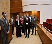 وزيرة التضامن الاجتماعي تتفقد مجمع الفنون بجامعة حلوان